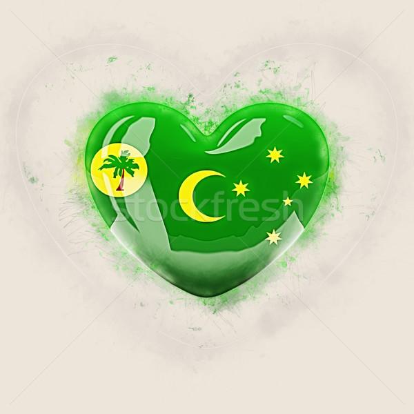 Heart with flag of cocos islands Stock photo © MikhailMishchenko
