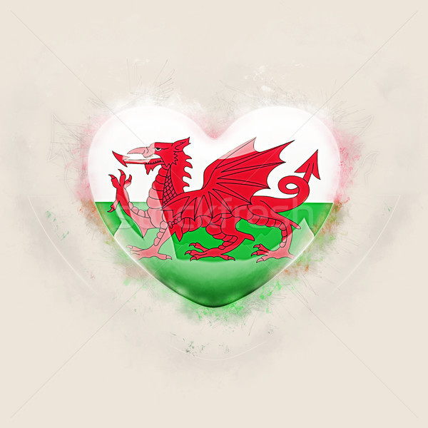 Heart with flag of wales Stock photo © MikhailMishchenko