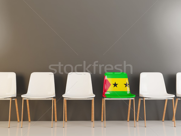 Chair with flag of sao tome and principe Stock photo © MikhailMishchenko