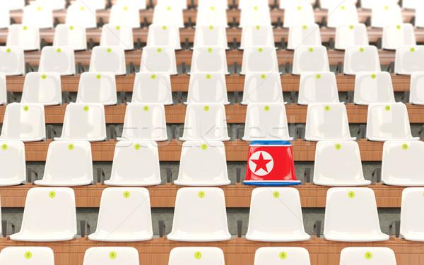 Stadium seat with flag of north korea Stock photo © MikhailMishchenko