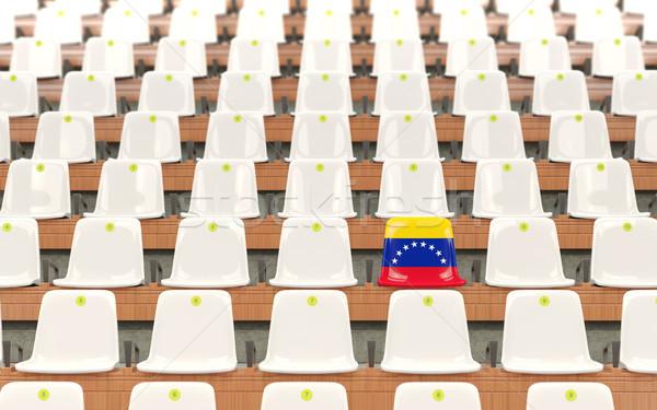 Stadion ülés zászló Venezuela csetepaté fehér Stock fotó © MikhailMishchenko