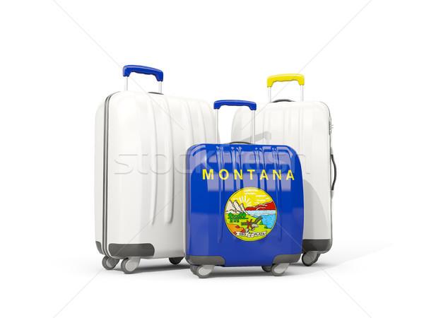 Bagages pavillon Montana trois sacs États-Unis Photo stock © MikhailMishchenko