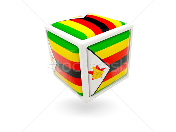 Flag of zimbabwe. Cube icon Stock photo © MikhailMishchenko