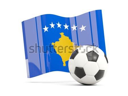 Bandeira Kosovo futebol equipe país Foto stock © MikhailMishchenko