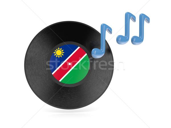 виниловых диск флаг Намибия изолированный белый Сток-фото © MikhailMishchenko