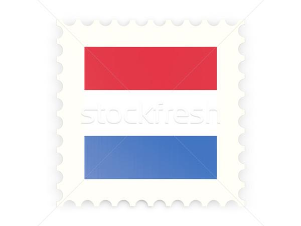 Postabélyeg ikon Hollandia izolált fehér felirat Stock fotó © MikhailMishchenko