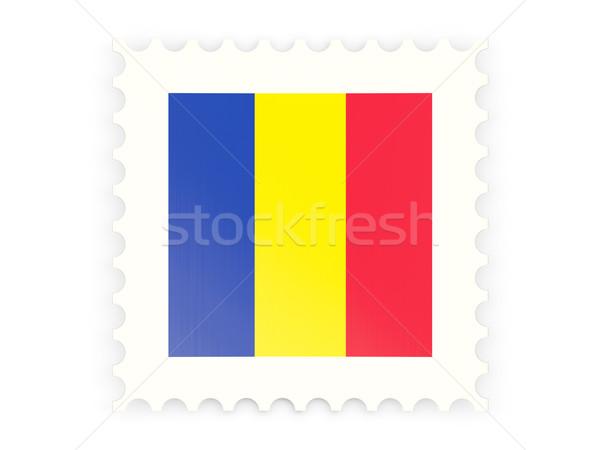 Icona Romania isolato bianco segno Foto d'archivio © MikhailMishchenko