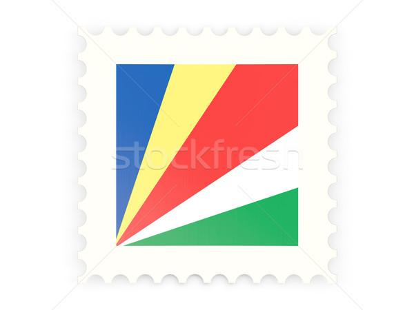 Postage stamp icon of seychelles Stock photo © MikhailMishchenko