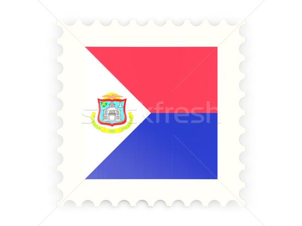 почтовая марка икона изолированный белый знак почты Сток-фото © MikhailMishchenko