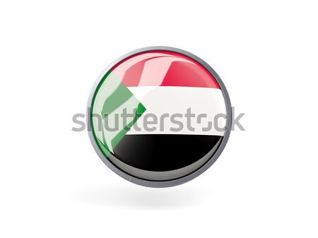 Icon vlag Soedan geïsoleerd witte reizen Stockfoto © MikhailMishchenko