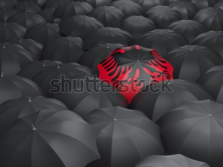 Umbrella with flag of isle of man Stock photo © MikhailMishchenko