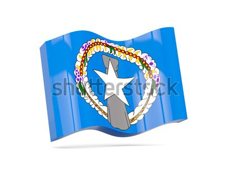 Square label with flag of northern mariana islands Stock photo © MikhailMishchenko