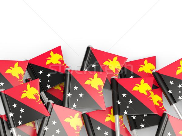 флаг Pin Папуа-Новая Гвинея изолированный белый фон Сток-фото © MikhailMishchenko