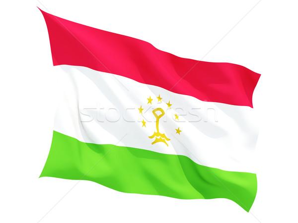флаг Таджикистан изолированный белый Сток-фото © MikhailMishchenko