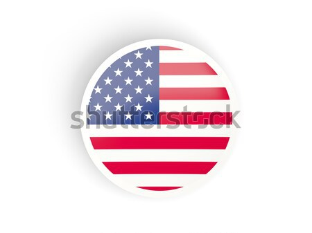 Etiket bayrak Amerika Birleşik Devletleri Amerika yalıtılmış beyaz Stok fotoğraf © MikhailMishchenko