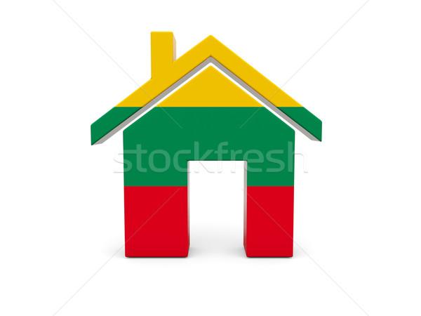 Home vlag Litouwen geïsoleerd witte Zoek Stockfoto © MikhailMishchenko