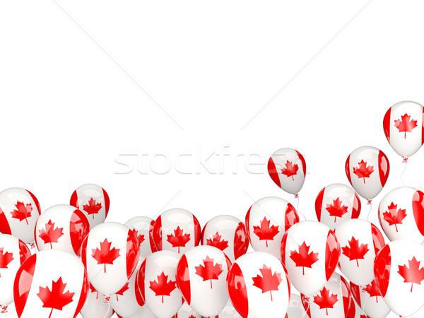 Flying balloons with flag of canada Stock photo © MikhailMishchenko