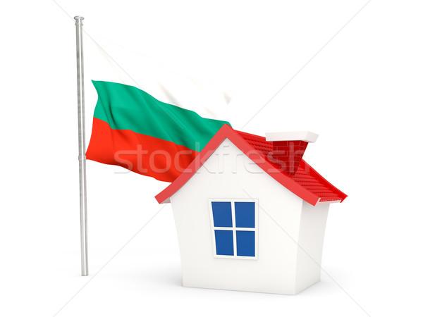 Ház zászló Bulgária izolált fehér otthon Stock fotó © MikhailMishchenko