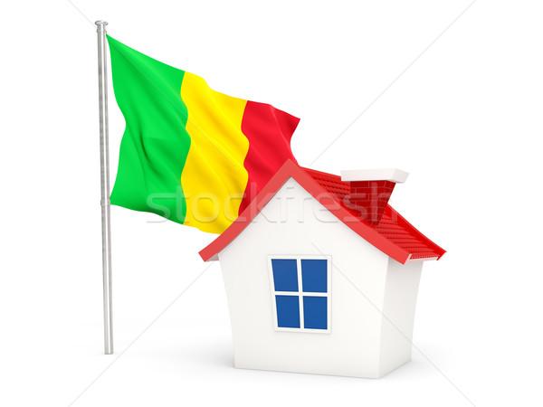 House with flag of mali Stock photo © MikhailMishchenko