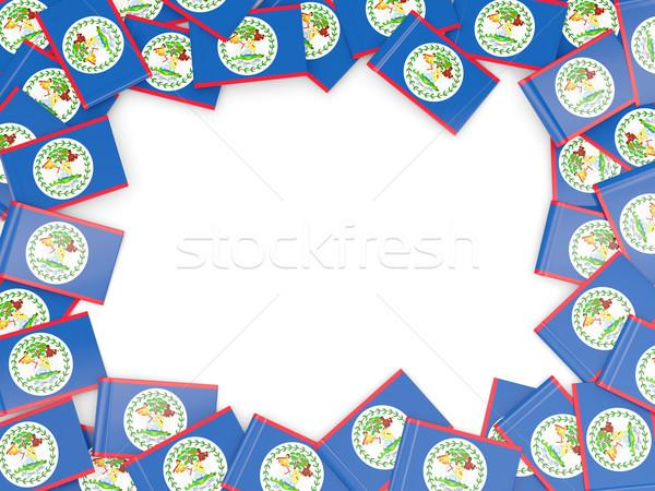 Keret zászló Belize izolált fehér Stock fotó © MikhailMishchenko