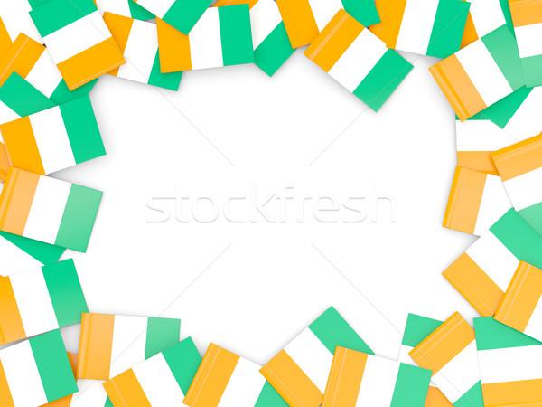 Frame with flag of cote d Ivoire Stock photo © MikhailMishchenko
