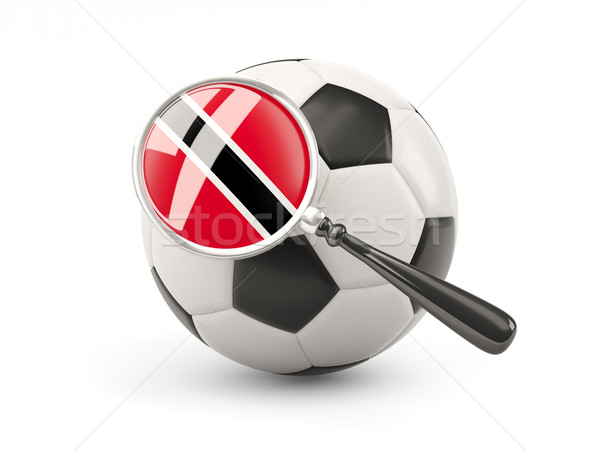 Football with magnified flag of trinidad and tobago Stock photo © MikhailMishchenko