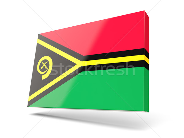 Praça ícone bandeira Vanuatu isolado branco Foto stock © MikhailMishchenko