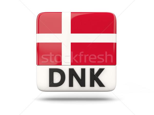 Vierkante icon vlag Denemarken iso code Stockfoto © MikhailMishchenko