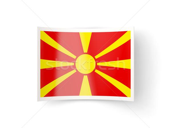 икона флаг Македонии изолированный белый стране Сток-фото © MikhailMishchenko