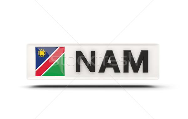 Kare ikon bayrak Namibya iso kod Stok fotoğraf © MikhailMishchenko