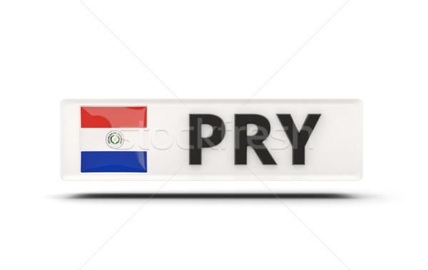 Placu ikona banderą Paragwaj iso kodu Zdjęcia stock © MikhailMishchenko