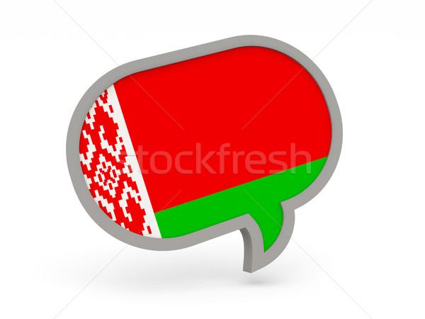 Chat icon vlag Wit-Rusland geïsoleerd witte Stockfoto © MikhailMishchenko