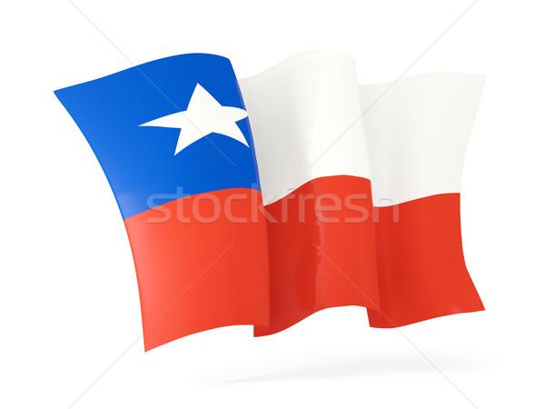 Bandiera Chile illustrazione 3d isolato bianco Foto d'archivio © MikhailMishchenko