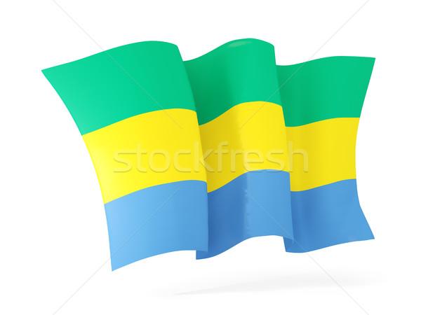 флаг Габон 3d иллюстрации изолированный белый Сток-фото © MikhailMishchenko