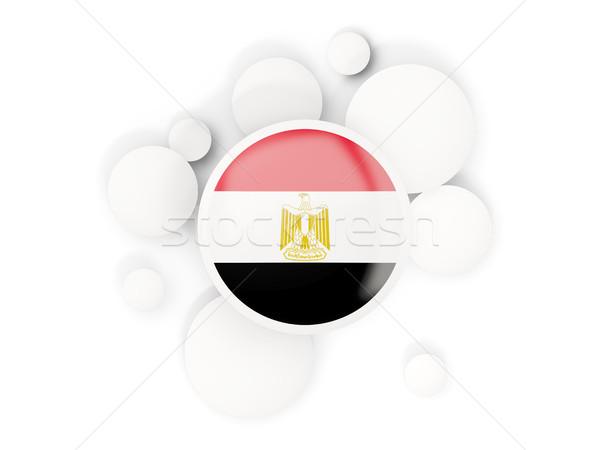 Round flag of egypt with circles pattern Stock photo © MikhailMishchenko