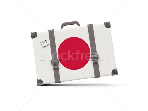 Камера флаг Япония чемодан изолированный белый Сток-фото © MikhailMishchenko