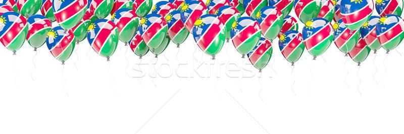 шаров кадр флаг Намибия изолированный белый Сток-фото © MikhailMishchenko