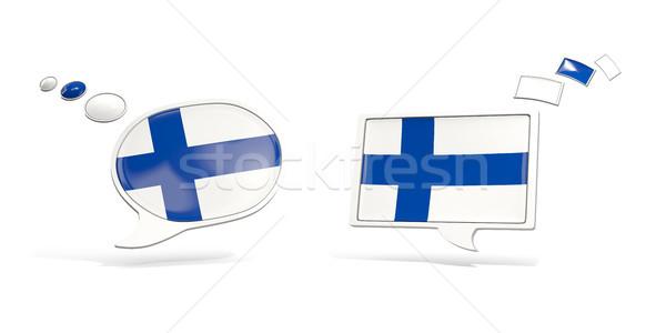 2 チャット アイコン フラグ フィンランド 広場 ストックフォト © MikhailMishchenko