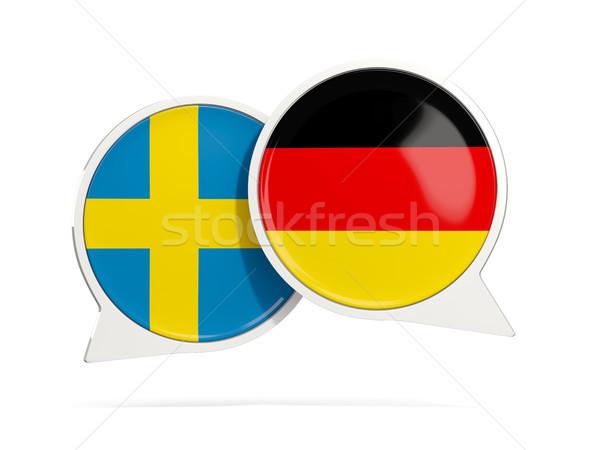 Chat bubbels Zweden Duitsland geïsoleerd witte Stockfoto © MikhailMishchenko