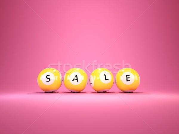 Vásár vásárlás lottó golyók izolált rózsaszín Stock fotó © MikhailMishchenko