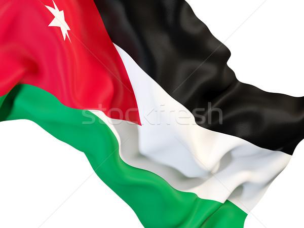 Vlag Jordanië 3d illustration reizen Stockfoto © MikhailMishchenko