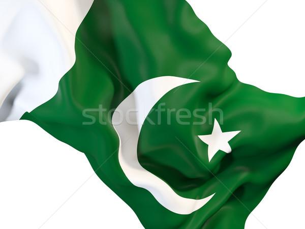 Bayrak Pakistan 3d illustration seyahat Stok fotoğraf © MikhailMishchenko