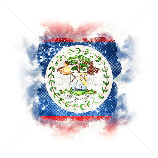 Tér grunge zászló Belize 3d illusztráció retro Stock fotó © MikhailMishchenko