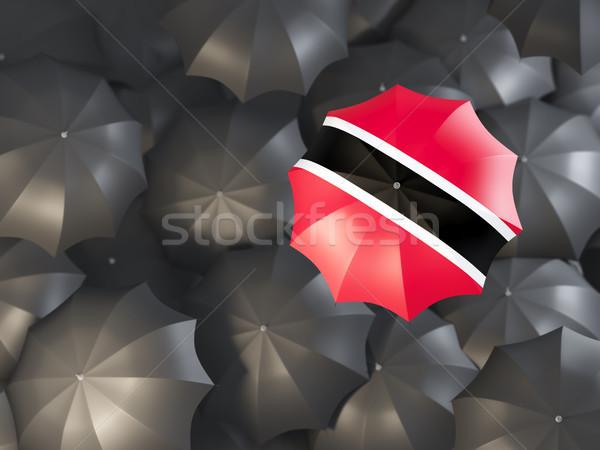зонтик флаг Top черный 3d иллюстрации Сток-фото © MikhailMishchenko