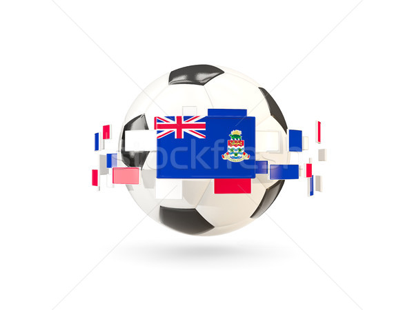 Soccer ball with line of flags. Flag of cayman islands Stock photo © MikhailMishchenko