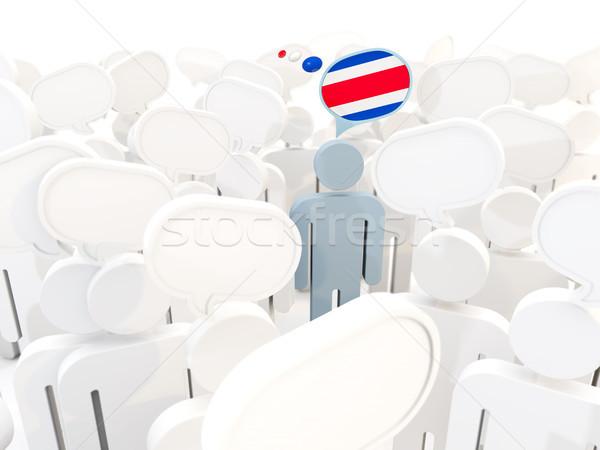 Hombre bandera Costa Rica multitud 3d signo Foto stock © MikhailMishchenko