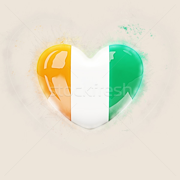 Heart with flag of cote d'Ivoire Stock photo © MikhailMishchenko