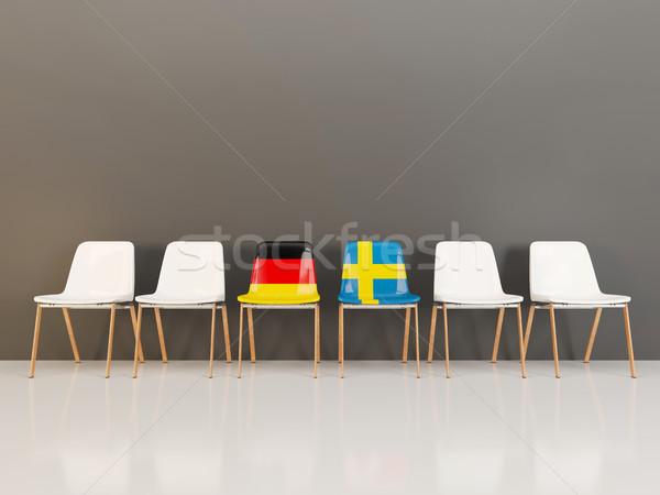 チェア フラグ ドイツ スウェーデン 3次元の図 ストックフォト © MikhailMishchenko