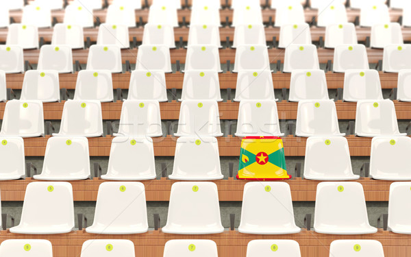 Stadium seat with flag of grenada Stock photo © MikhailMishchenko