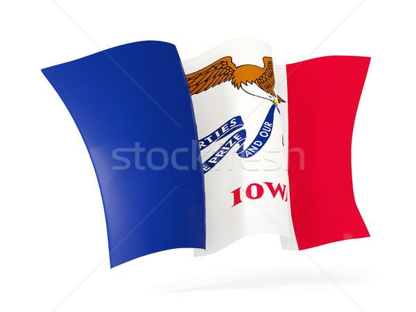 Iowa zászló integet ikon közelkép Egyesült Államok Stock fotó © MikhailMishchenko